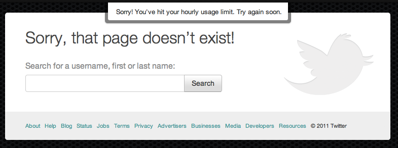 Thanks Twitter, love your user experience! #Fail!