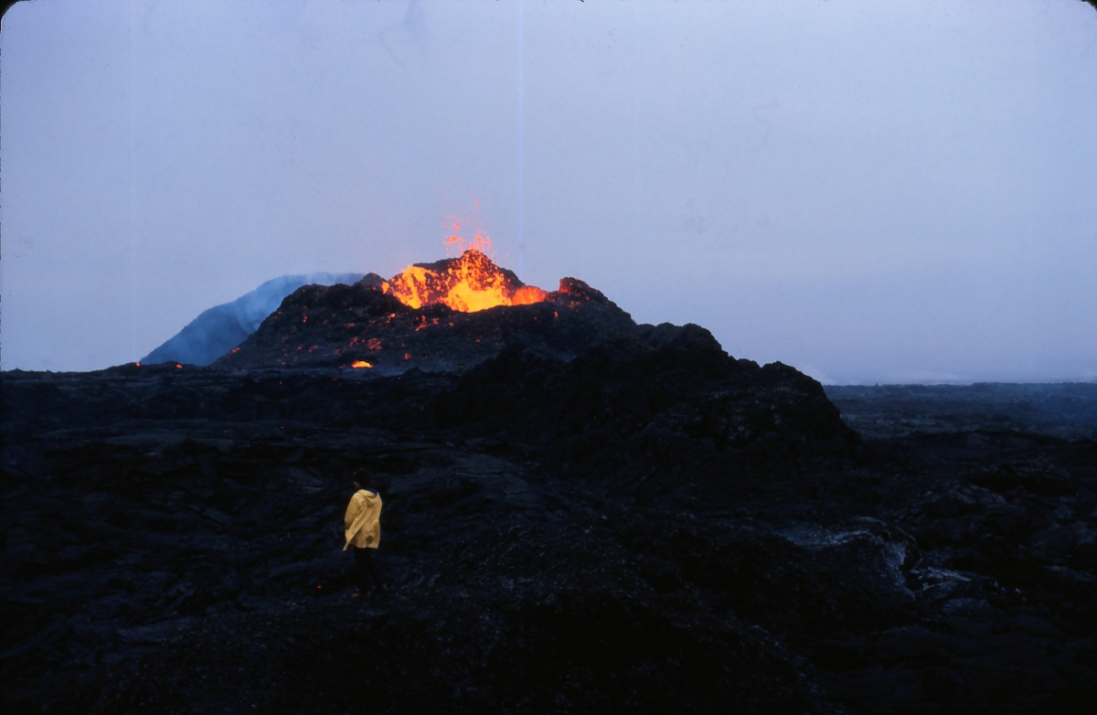 Old photos my dad took during a volcanicerruption