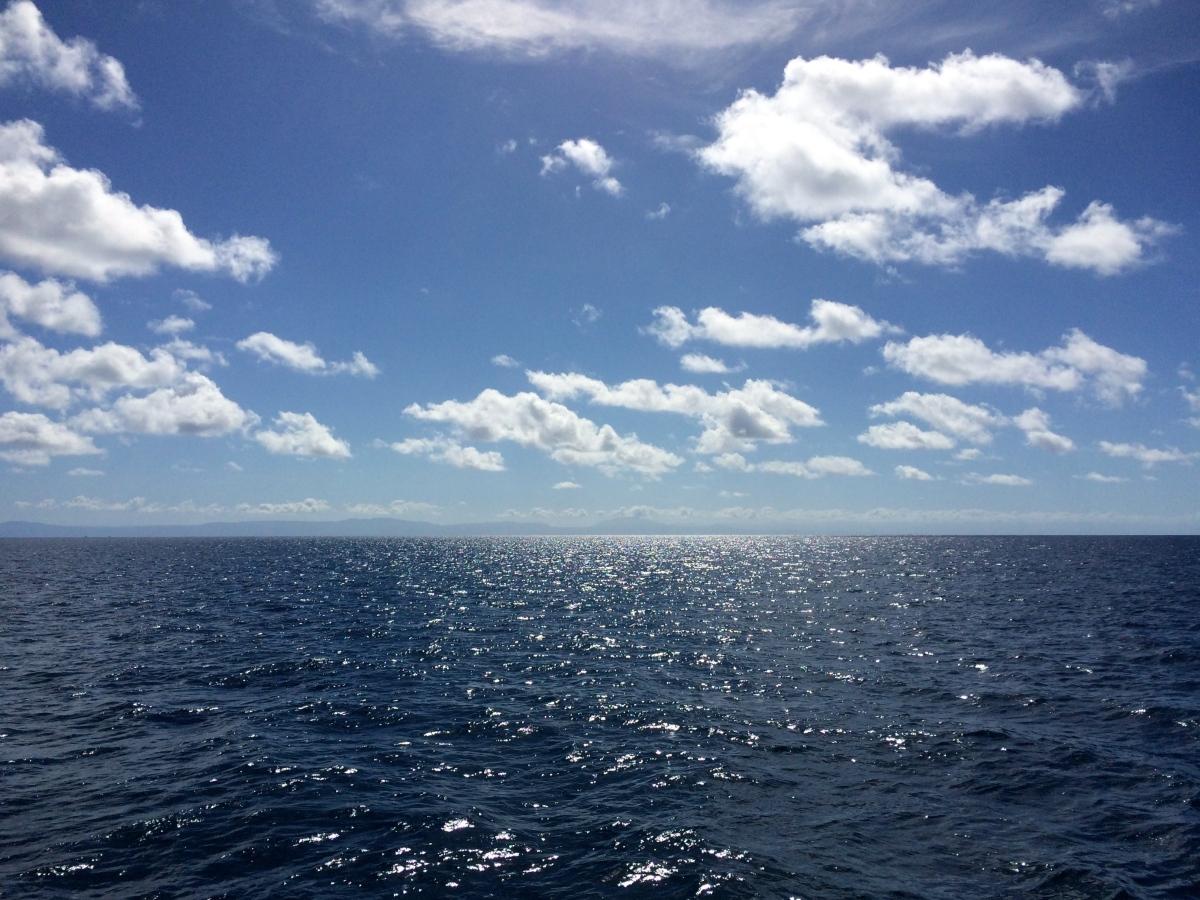 Australia seen from the Great BarrierReef