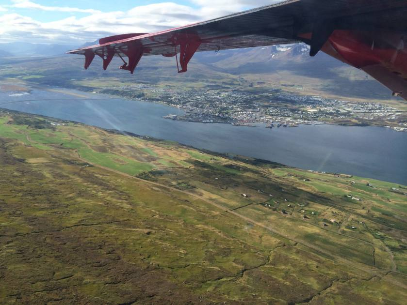 Flying back to Akureyri, Iceland, from the Holuhraun eruption, September 2014.