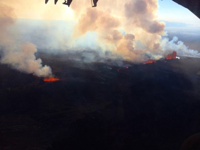 Holuhraun seen from air, September 2014