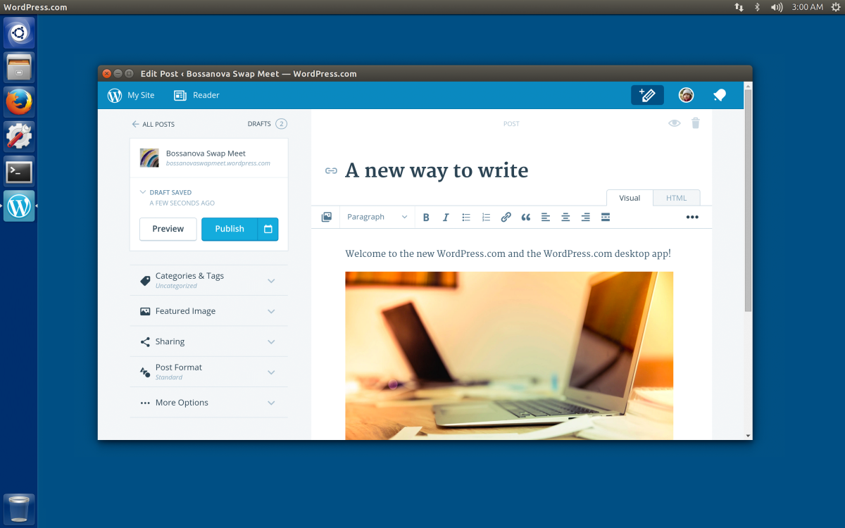WordPress.com Desktop App Goes Open Source, Linux App Arrives